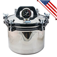 8L Portable Steam Autoclave Sterilizer Pot Dental Lab Equipment Stainless Steel