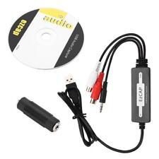 Usb Audio Capture Recorder Turntable Lp Cassette To Cd/Mp3/Wav Converter Adapter