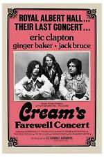 Eric Clapton & Cream * Farewell Concert * Royal Albert Hall Poster 1969  12x18