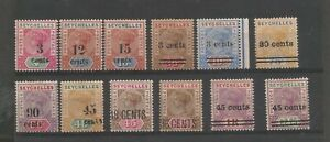 SEYCHELLES FROM 1893 USEFUL GENERALLY FINE MINT SURCHARGED COLLECTION