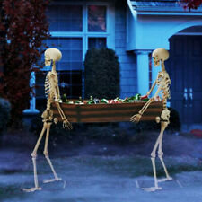 65 Inch Full Life Size Skeleton Halloween Party House Hunted Prop Decor Park