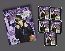 Justin Bieber Panini Stickers Starter Kit with Album plus over 40 Stickers