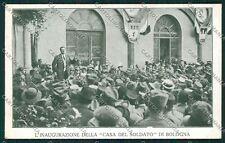 Bologna città Militari Casa Soldato cartolina QQ9116