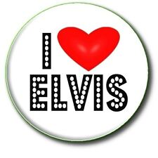 "I LOVE ELVIS/ 1""/ 25 mm BUTTON BADGE"