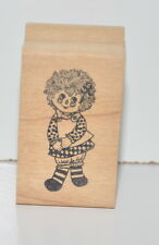 Great Impressions Raggedy Ann 1988 Wood Rubber Stamp