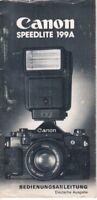 CANON - Speedlite 199A - Bedienungsanleitung für Blitzgerät - B3704