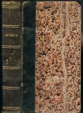 The LETTERS of JUNIUS by Sir Philip Francis PAMPHLET for GEORGE III Suttaby 1810