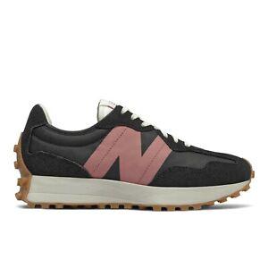 New Balance Classic 327 Black Suede Retro Running&Jogging Sneaker Shoes  Women