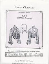 Schnittmuster Truly Victorian TVE 41: 1903 Plain Blousewaist