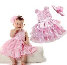 Kleid Baby 74-80 Set inkl. Haarband Geburtstag Hochzeit Festkleid Taufe