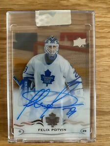 2018-19 UPPER DECK CLEAR CUT FELIX POTVIN AUTO #CC-FP TORONTO MAPLE LEAFS