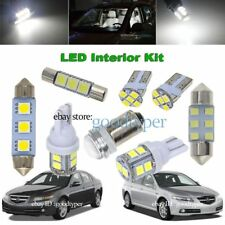 11x White LED Map Dome Light interior bulb package kit fit 2004-2008 Acura TL