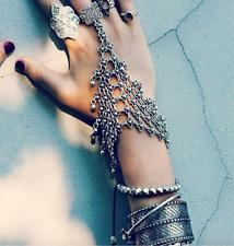 Punk Rock Thick Coachella Gypsy Silver Women Silver Bracelet 1 Pc