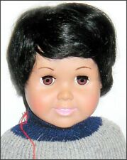 """BOY DOLL WIG 10 -11 fits 18"""" or Blythe Baby BLACK PIXIE Bebe Monique OLD STOCK"""