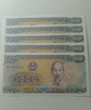 Vietnam 1000 dong 1988 in fds lot 5 pcs