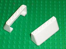 2 x LEGO white windscreen 4176 / set 7163 3409 3425 3420 3421 3423 3410 4469 ...