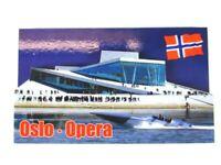 Oslo Opera 3D Madera Recuerdo Deluxe Imán Noruega Nuevo