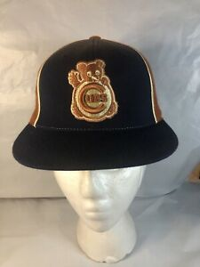 Cubs Cooperstown Collection American Needle Fitted Hat Size 7 Waving Cub Logo
