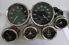 Smiths Replica Temp + Oil + Fuel + Amp Gauge+ 100 MM Speedometer KPH +Tachometer