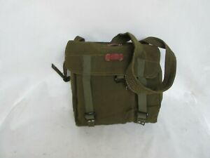 Armee Schultertasche Umhängetasche Brotbeutel Vintage Canvas Leather Bag Bread