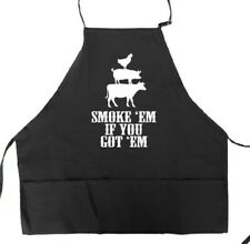 Funny BBQ Apron for Men Smoke Em If You Got Em Fathers Day Gift Idea for Dad