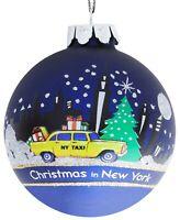 New Macy's Exclusive Kurt Adler New York Glass Ball Christmas Ornament