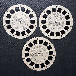 Desert Cactus Wild Flowers Lot of 3 Hand Lettered Viewmaster Reels 289 290 291