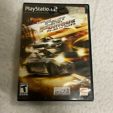 The Fast and the Furious Playstation 2 PS2 Video Game Complete CIB ACCEPTABLE
