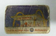 Vtg 1960's McDONALDS Golden Arches BE OUR GUEST Food Meal Redemtion Card Coupon
