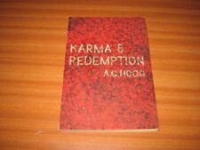 KARMA & REDEMPTION BY A G HOGG ESSAY TOWARDS THE INTERPRETATION OF HINDUISM