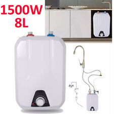 8L Tank Electric Hot Water Heater Home Kitchen Bathroom Warmer 1500W 55℃-75℃