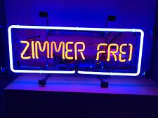 ZIMMER FREI Leuchtreklame HOTEL Neon signs Neonreklame PENSION Neonwerbung  news