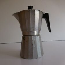 Cafetière moka coffee maker aluminium bakélite XXe made in Italy art déco PN