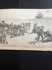 M3-4 Ephemera 1918 Ww1 Picture British Artillery Section Allenby Advance