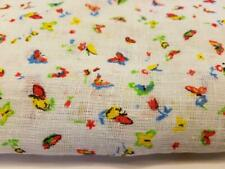 """Vintage Fabric 58"""" x 352"""" Large Piece Pattern Right's Inc Bright Butterfly's"""