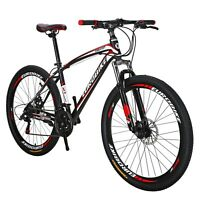 Eurobike X1 Mountain Bike 27.5 inches Wheels 21 Speed Complete Bicycle Mens MTB