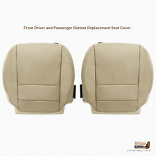 Driver & Passenger Bottoms Leather Seat Cover Tan For 2007 2008 2009 Acura MDX