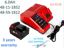 6.0Ah Battery & Charger Combo for Milwaukee M18 48-59-1812 48-11-1852 48-11-1828