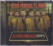 CD - Codigo FN NEW Sera Porque Te Amo 16 Tracks FAST SHIPPING !