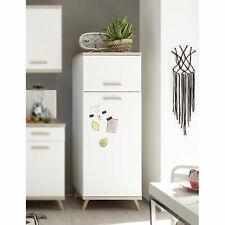 Küchen Kühlschrankumbau weiß Quince Eiche Sonoma Anstellprogramm Schrank