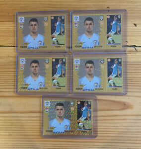 5 x PHIL FODEN 2018 / 2019 Panini FIFA 365 2018 ROOKIE stickers