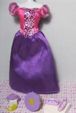 "10"" Skipper size BARBIE doll princess TANGLED RAPUNZEL PURPLE GOWN DRESS SHOES"
