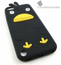 BLACK CUTE DUCK SOFT SILICONE RUBBER SKIN CASE COVER APPLE IPOD TOUCH 5 5TH