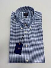 MEN'S SIZE 15 34/35 DOCKERS BLUE/WHITE PLAID BUTTON DOWN DRESS SHIRT #6785