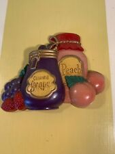 Home Interiors Homco Fruit Jam Jelly Wall Plaque Hanging Vintage Mcm