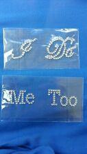 Wedding shoe stickers  I Do  &  Me Too Rhinestone accessory  set
