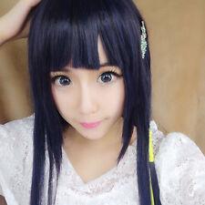 Cosplay Shiba Miyuki Ladies Long Black And Blue Straight Hair Synthetic Full Wig