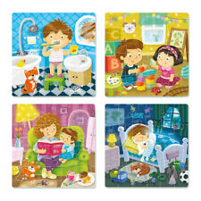 """Jigsaw Puzzle 4 in 1 """"My Day"""" for Kids, 3+, Learning, Education, Game, Toy,Adult"""