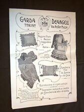 Pubblicità Epoca per Collezionisti Anno 1909 Garda & Deangeli Torino Ricami