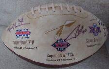 NFL Washington Redskins 70th Anniversary Super Bowl Signed Football Manley Grant
